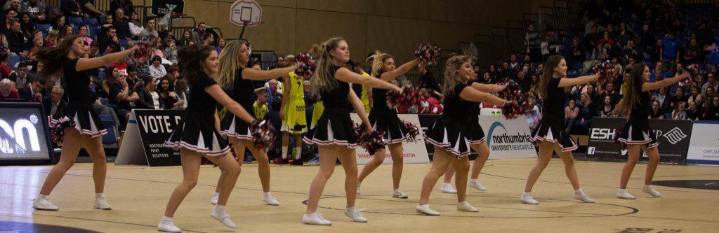 Eaglettes cheerleaders